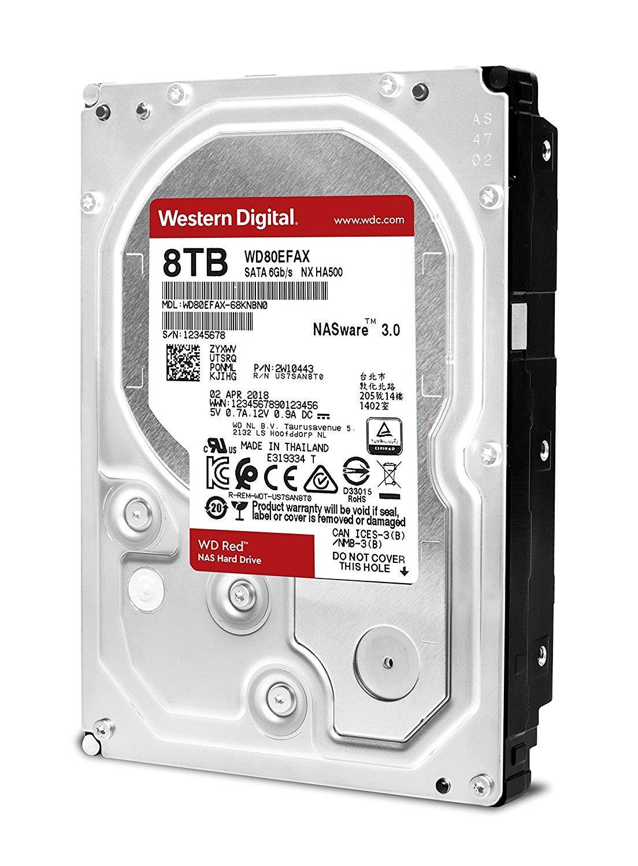 WD Red 8TB 6Gb/s SATA HDD cietais disks