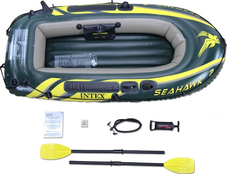 Intex Ponton Seahawk 200 set zielony 236x114x4cm (68347NP) 6941057463476