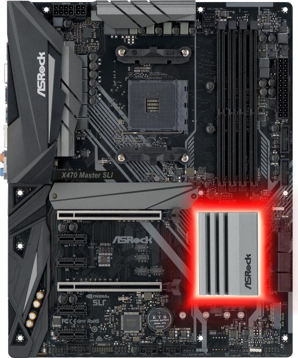 ASRock X470 Master SLI, AMD X470 Mainboard - Socket AM4 pamatplate, mātesplate