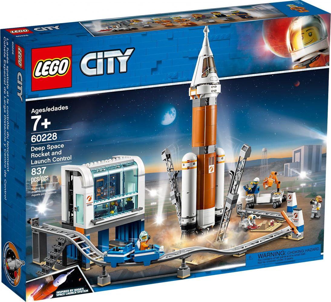 LEGO 60228 City space rocket with the control center, construction toys LEGO konstruktors