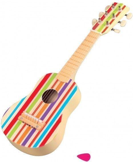 Lelin Teczowa drewniana gitara 6-strunowa L20032