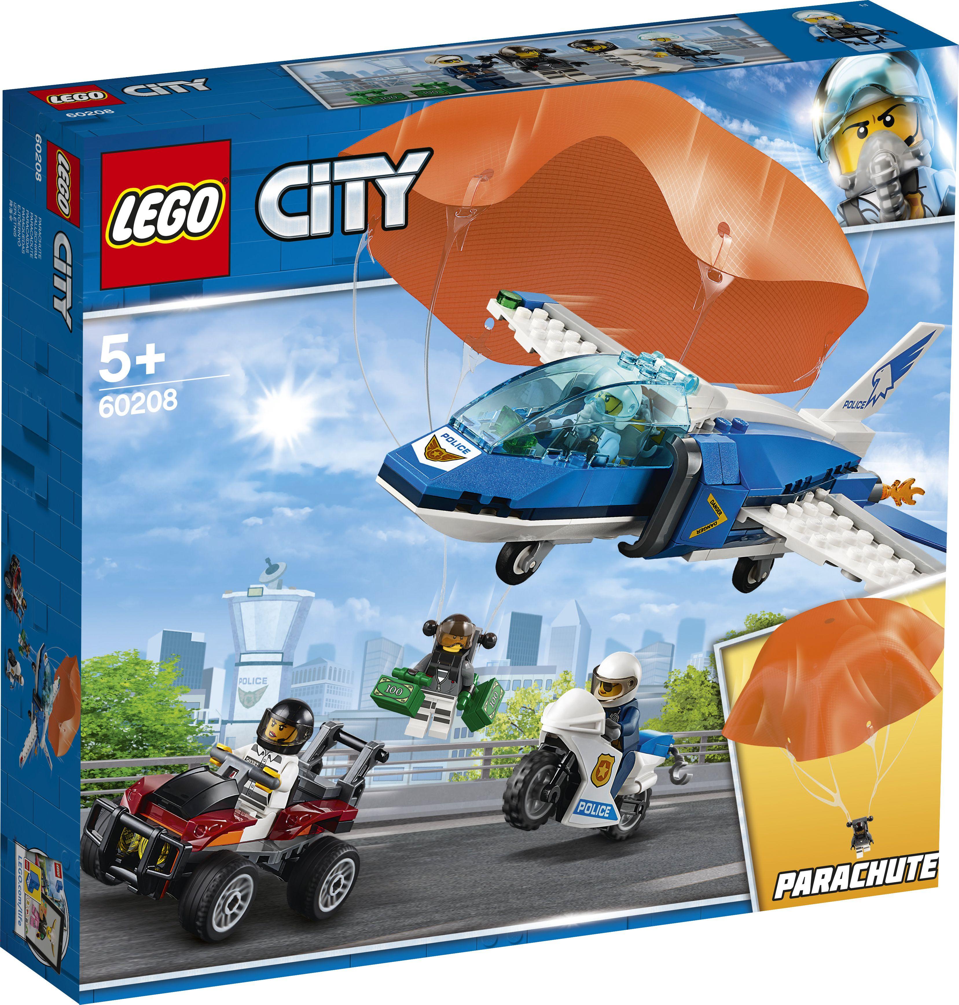 LEGO City 60208 Sky Police Parachute Arrest LEGO konstruktors