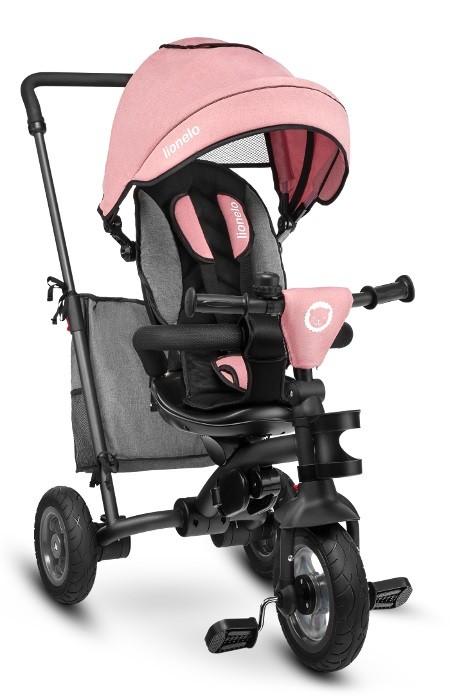 Lionelo Bike TRIS candy pink-gray bērnu ratiņi