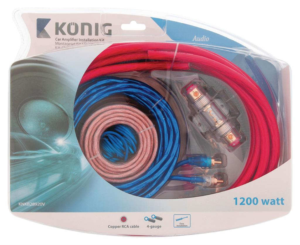 Konig Car Audio Kit 1200 W (4GA) auto audio aksesuārs