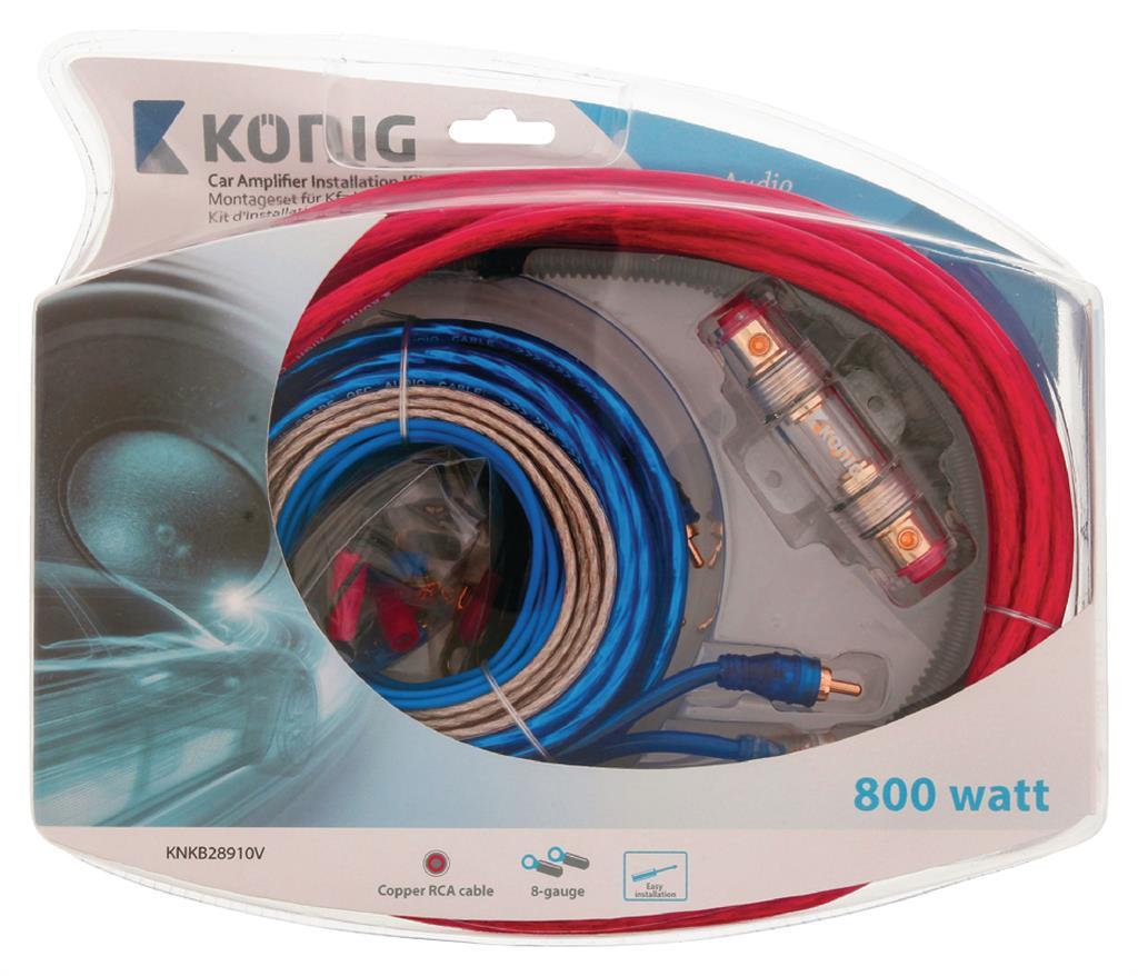 Konig Car Audio Kit 800 W (8GA) auto audio aksesuārs