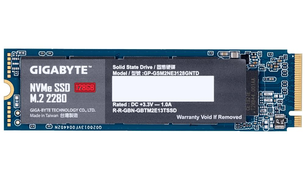 Gigabyte NVMe SSD, PCIe 3.0 M.2 Typ 2280 - 128 GB SSD disks