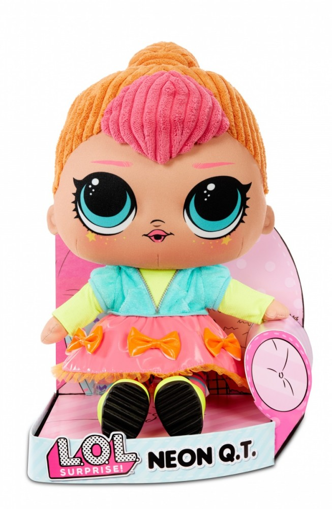 MGA Mascot doll L.O.L.Surprise Plusz, Neon QT bērnu rotaļlieta