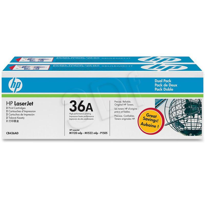 HP 36A Black Doublepack toneris