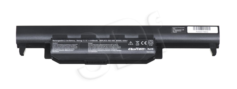 Qoltec Long Life Notebook Battery - Asus K55 A32-K55   4400mAh   11.1V akumulators, baterija portatīvajiem datoriem