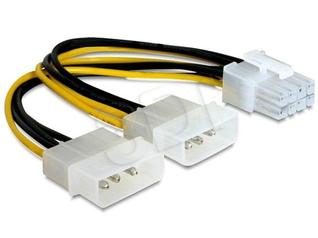 Gembird cable CPU switch 2HDD/8PIN BTX (CC-PSU-81) kabelis datoram