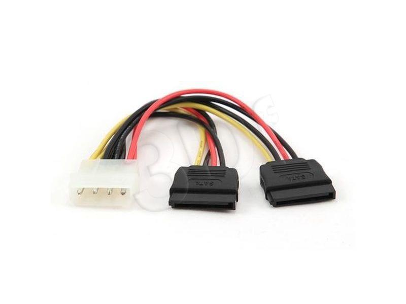 Gembird 2x Serial ATA 30 cm power cable kabelis datoram