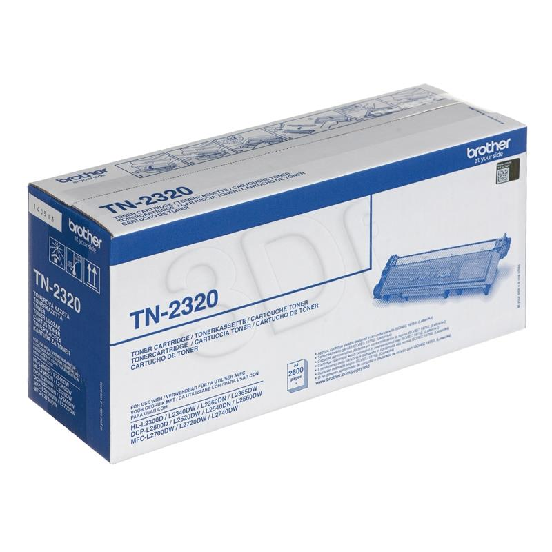 BROTHER TN2320 black toner 2600 pages toneris