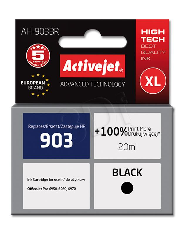 Activejet AH-903BR (replacement HP 903 T6L99AE; Premium; 20 ml; black)