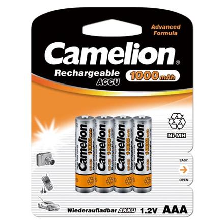 Camelion Rechargeable Batteries Ni-MH 4x AAA (R03) 1000mAh Baterija
