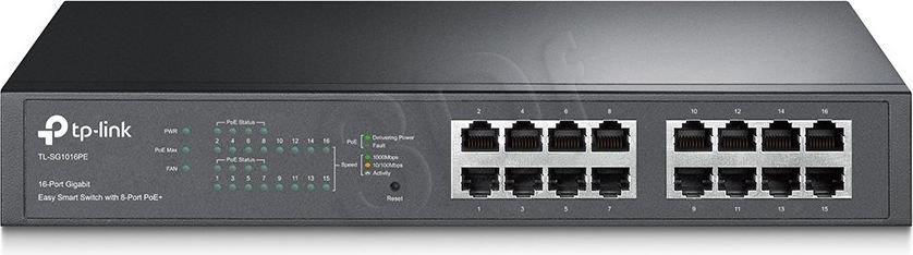 TP-Link SG1016PE switch L2 16x1GbE (8xPoE+) komutators