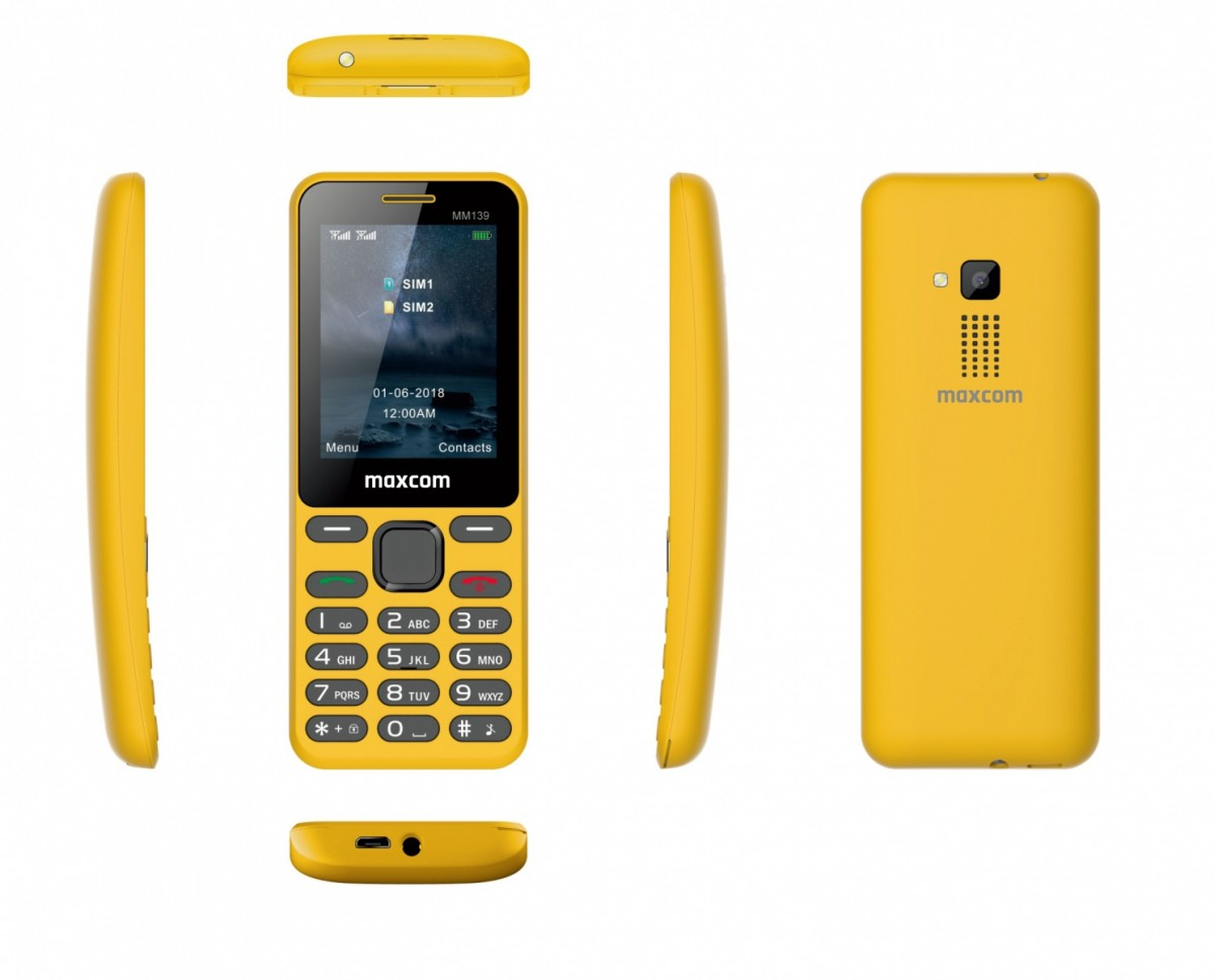 Mobile phone MM 139 DS Yellow MAXCOMMM139ZOLTY Mobilais Telefons