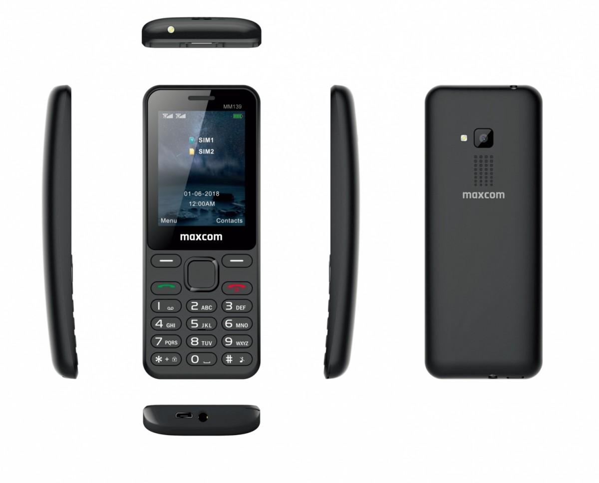Mobile phone MM 139 DS Black MAXCOMMM139BLACK Mobilais Telefons