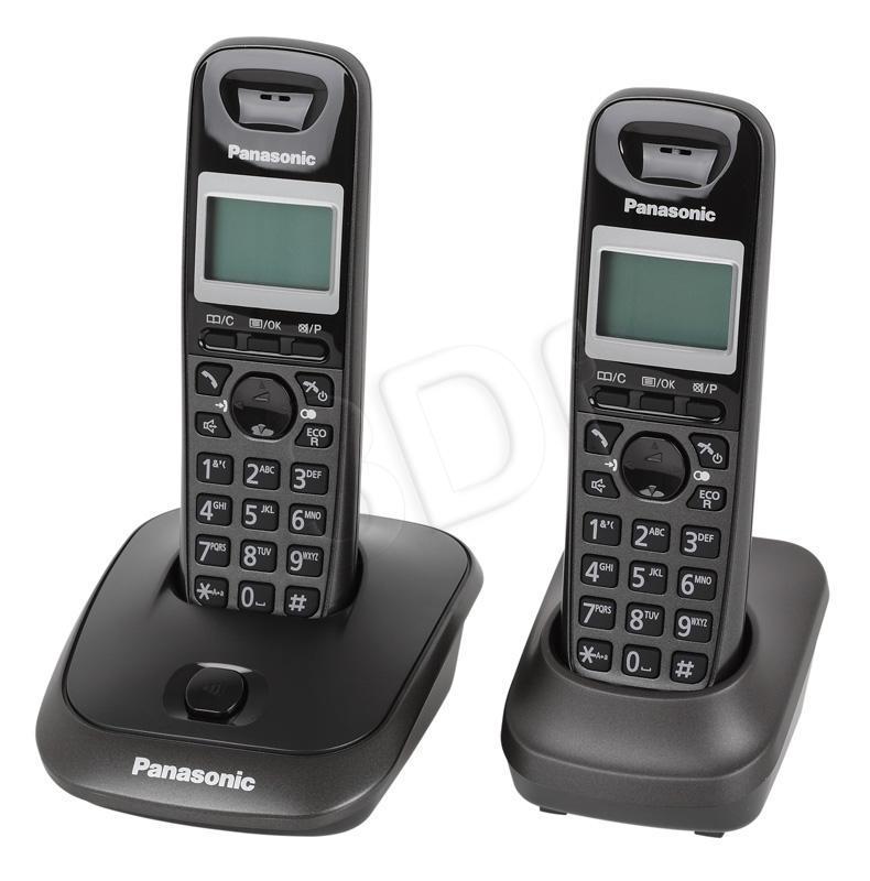 Panasonic KX-TG2512PDT Duo tytanowy telefons