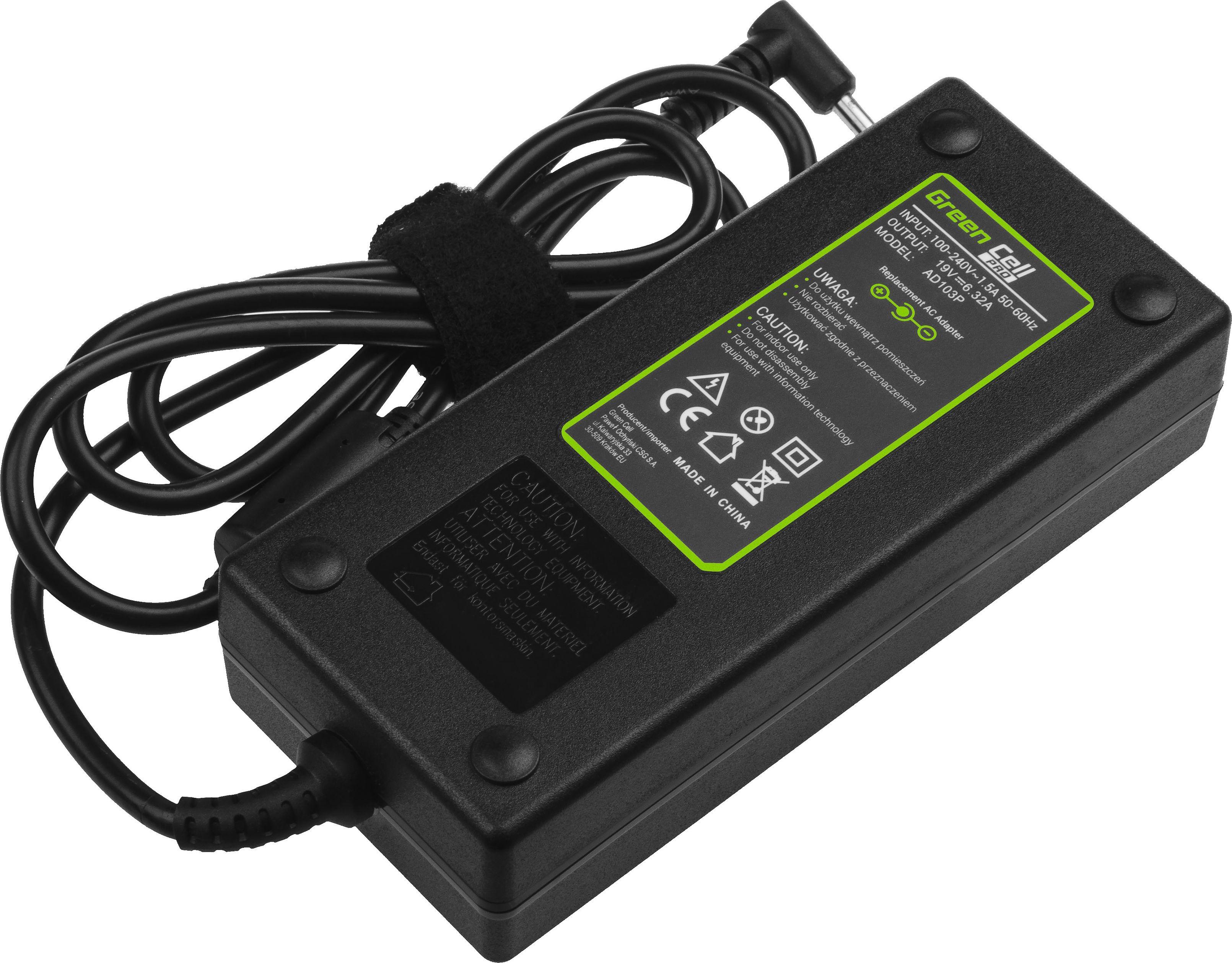 Green Cell PRO Charger  AC Adapter for Asus N501J N501JW Zenbook Pro UX501 19V 6.32A 120W aksesuārs portatīvajiem datoriem