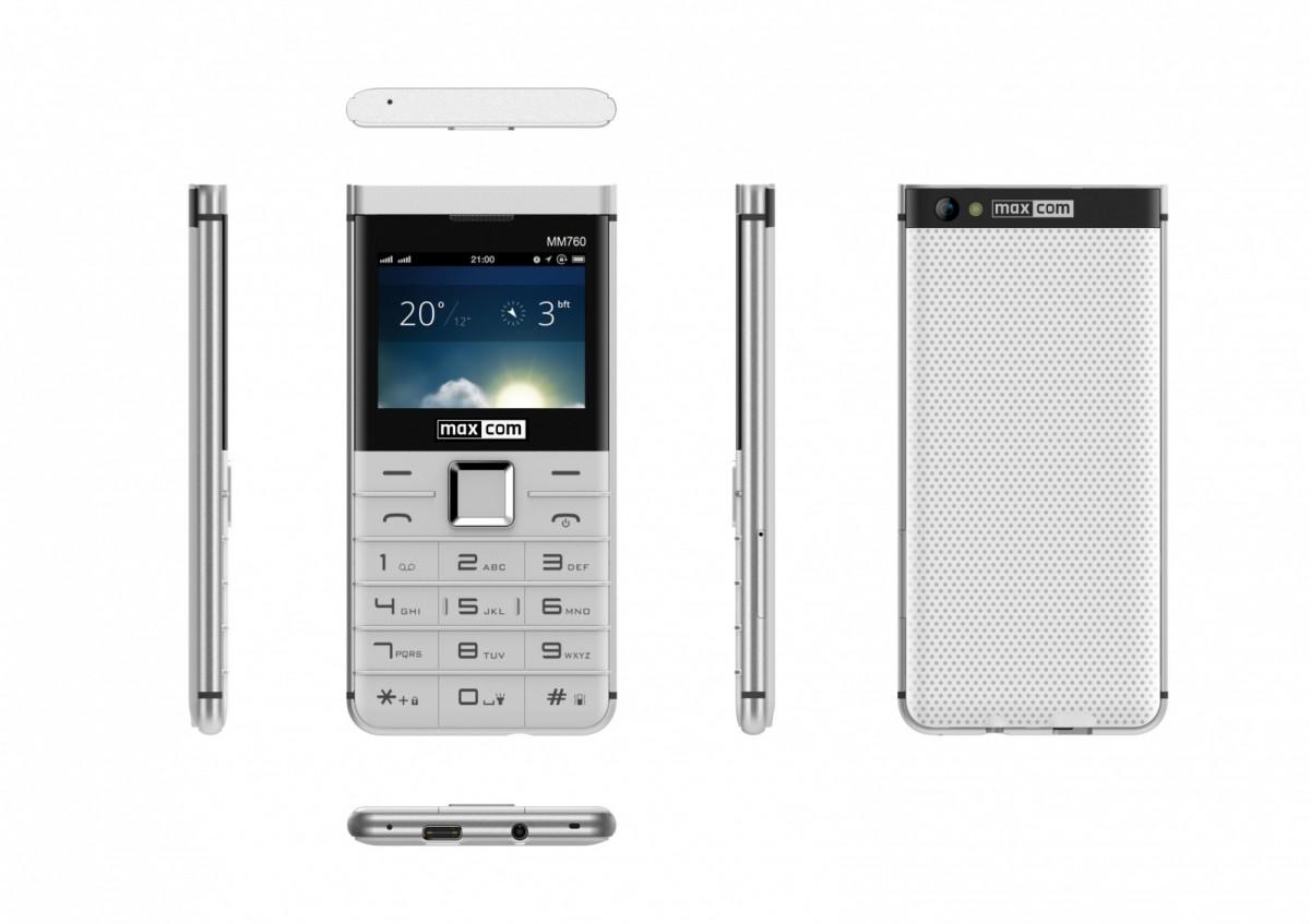 Mobile phones MaxCom MM 760 DUAL SIM WHITE MAXCOMMM760WHITE Mobilais Telefons