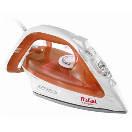 TEFAL FV3952  White/Orange, 2400 W, Steam Iron, Continuous steam 35 g/min, Steam boost performance 125 g/min, Anti-scale system, Vertical st Gludeklis