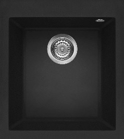Sink inset FORSQUARE 34.40 TG black Izlietne