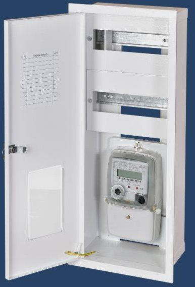 KARWASZ Built-in switchgear RW-1P-16 with a lock, space for 1 meter 1F and 2x8 type protection devices (RW-1P-16