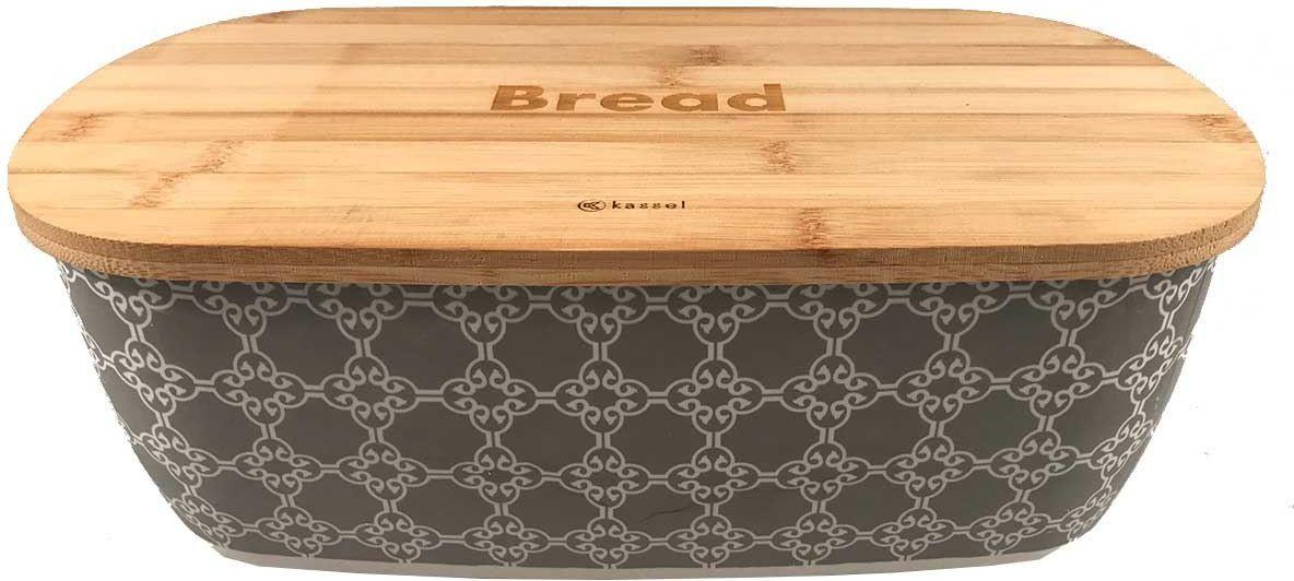 Bamboo Kassel breadboard with cutting board (93509) Pārtikas uzglabāšanas piederumi