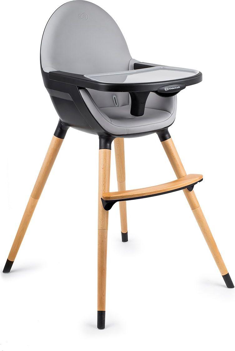 KinderKraft FINI black bērnu barošanas krēsls