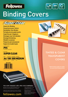 Fellowes Binding Covers A4 Clear PVC   300 Mikron