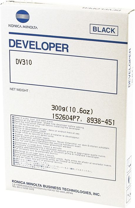 Developer Konica Minolta DV-310 | Bizhub 222 282 362 250 350 biroja tehnikas aksesuāri