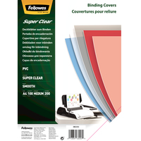 Fellowes Binding Covers A4 Superclear PVC   200 Mikron