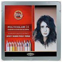 Koh-I-Noor Crayons Polycolor 24 colors Portrait (174935)