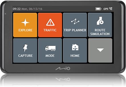 Mio Spirit 8670 FEU Lif etime Truck + TMC&bluet Navigācijas iekārta