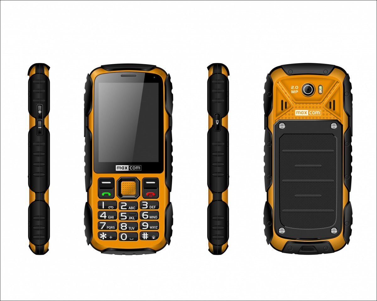 Telefon komorkowy Maxcom Strong MM 920 Yellow MAXCOMMM920ZOLTY Mobilais Telefons