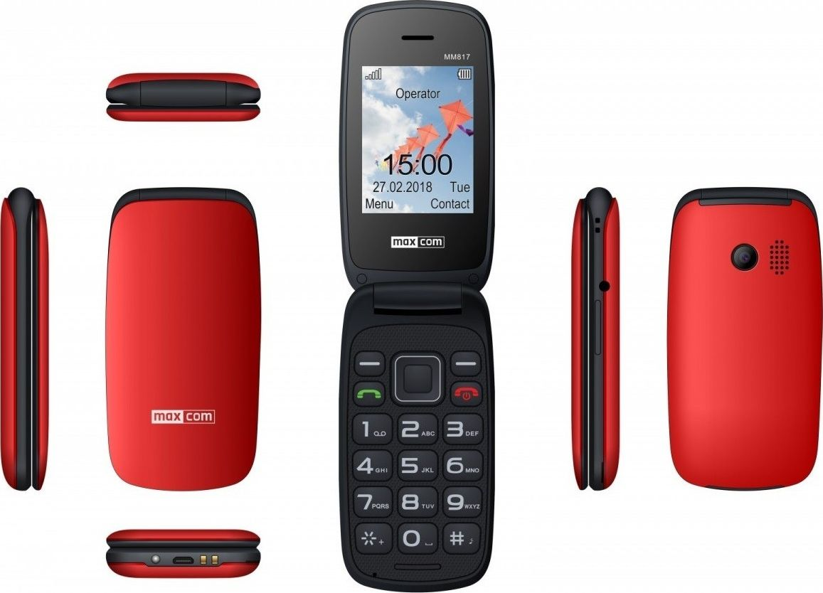 Telefon komorkowy Maxcom MM 817 czerwony-MAXCOMMM817RED MAXCOMMM817RED Mobilais Telefons