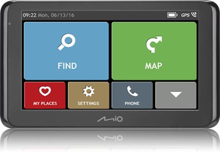 Mio Spirit 8670 FEU Lif etime + TMC&Bluetooth Navigācijas iekārta