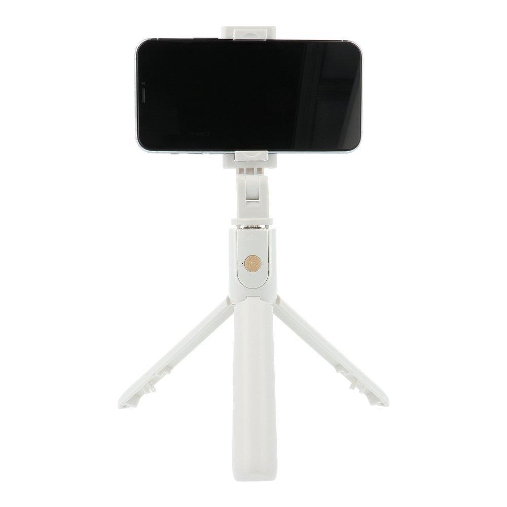 RoGer 2in1 Universāls Selfie Stick + Tripod Statnis ar Bluetooth Tālvadības pulti / Balts Selfie Stick