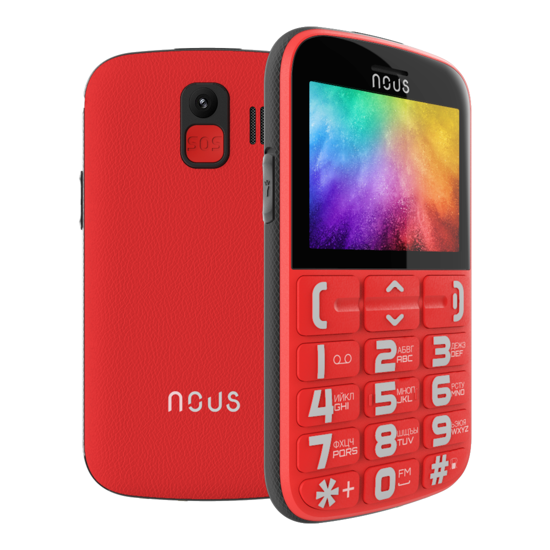NOUS NS2422 Helper Dual SIM Red Mobilais Telefons