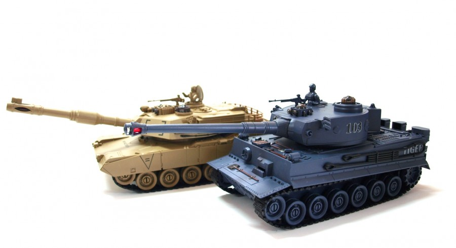 The set of tanks fighting each other - PK German Tiger and Abrams M1A2 1:28 ZG/99822