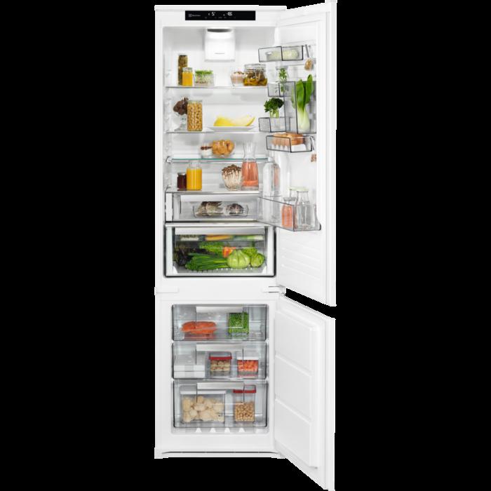 Electrolux iebūvējams ledusskapis ar saldētavu apakšā, 188.4 cm, A+++, balts LNS9TD19S Iebūvējamais ledusskapis