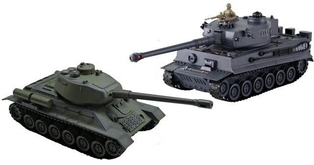 The set of tanks fighting each other - Russian T-34 and German Tiger 1:28 RTR ZG/99824