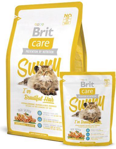 Brit Care Cat Sunny I've Beautiful Hair 7kg kaķu barība