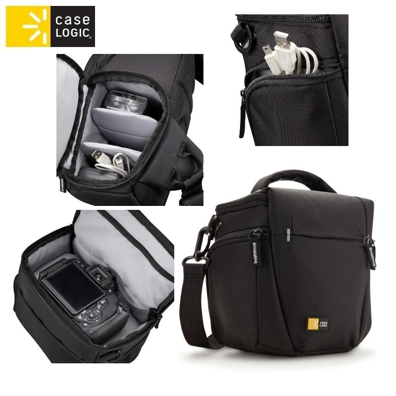 Case Logic TBC406K Universāla (Iekšējie 15.2x10.9x15.7 cm) soma foto/video kamerām ar pleca siksnu Melna soma foto, video aksesuāriem