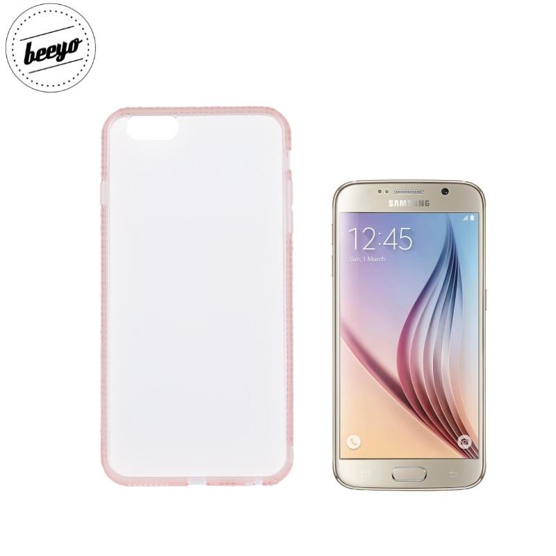 Beeyo Diamond frame super plāns silikona caurspīdīgs aizmugures maks-apvalks priekš Samsung G920F Galaxy S6 Roz