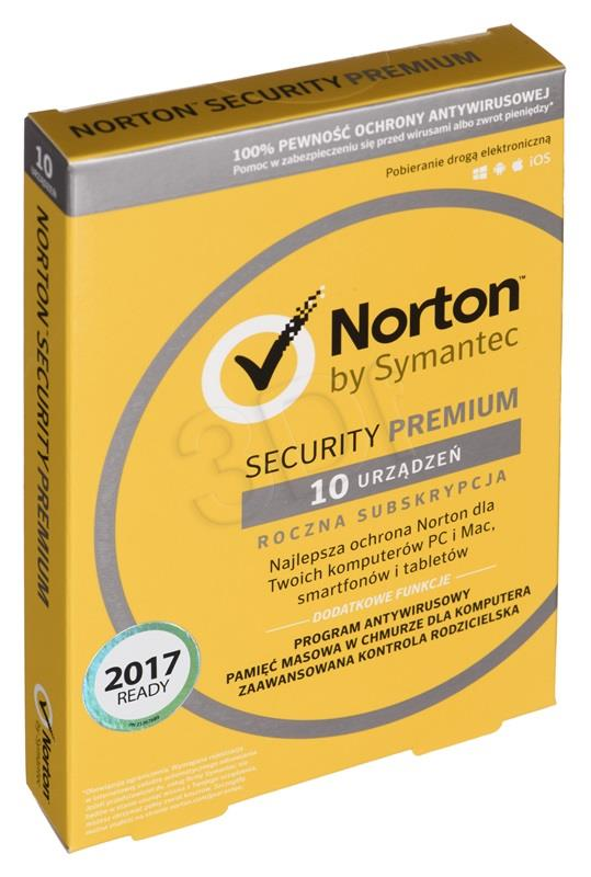 Symantec NORTON SECURITY PREMIUM (10 pos.; 12 months; BOX; Commercial, Home)