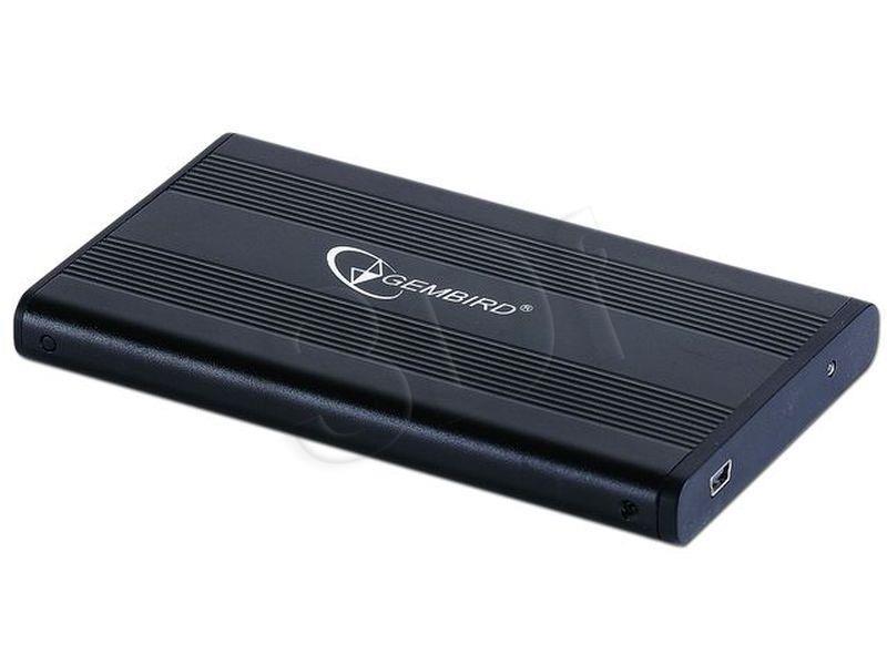 Gembird for 2.5'' SATA - USB 2.0, Aluminium, Black cietā diska korpuss