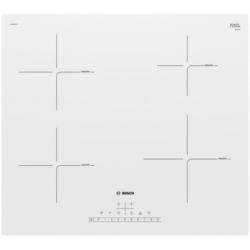 Bosch Hob PUE612FF1J Induction, Number of burners/cooking zones 4, White, Display, Timer plīts virsma