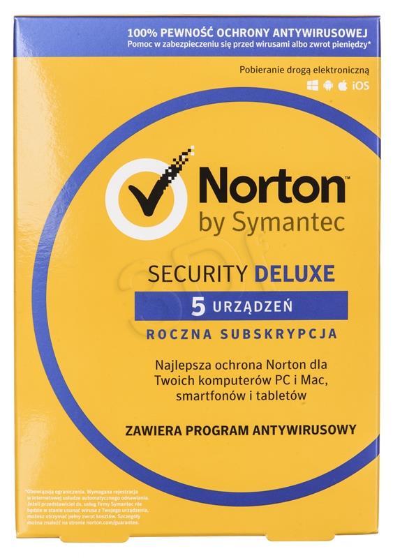 Norton Sec.3.0 DELUX PL CARD 1U 5Dvc 1Y 2135760 programmatūra