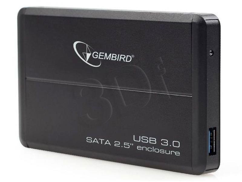 Gembird for 2.5'' SATA - USB 3.0, Aluminium, Black piederumi cietajiem diskiem HDD